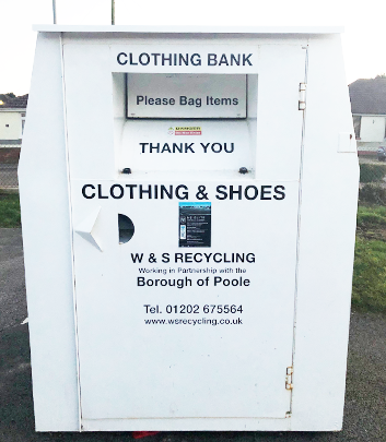 Clothing banks clothes recycling